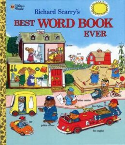 best word book ever - By Richard Scarry - books for 3 years old