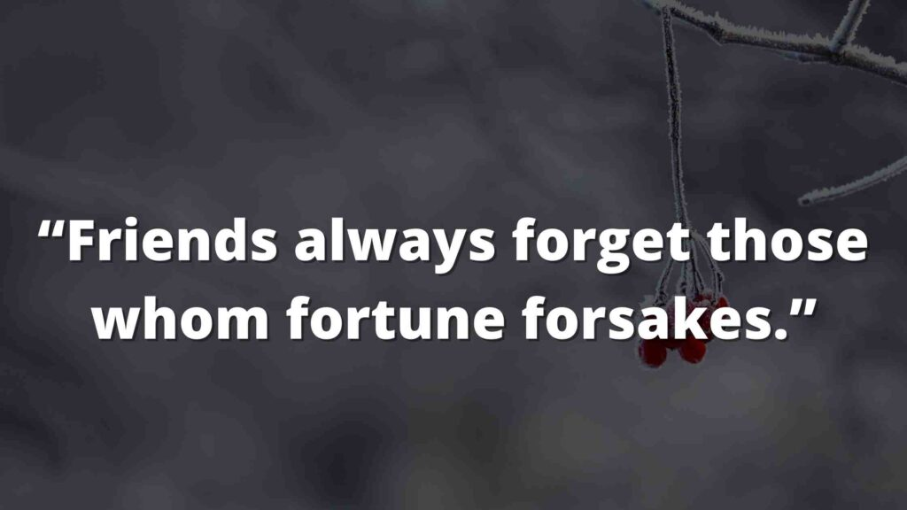 """""""Friends always forget those whom fortune forsakes."""" Jane Eyre Quotes (5)"""