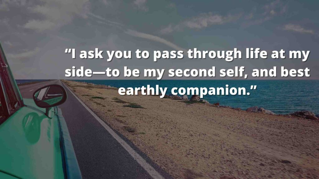 """""""I ask you to pass through life at my side—to be my second self, and best earthly companion."""" Jane Eyre Quotes (6)"""
