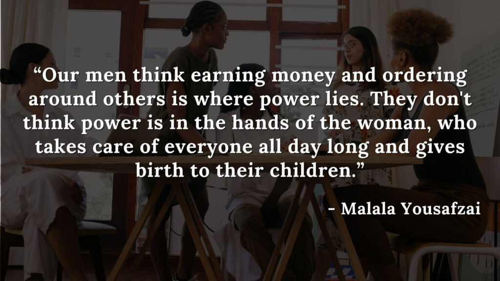 """""""Our men think earning money and ordering around others is where power lies. They don't think power is in the hands of the woman, who takes care of everyone all day long and gives birth to their children."""" - quote from the book """"i am mamala"""""""